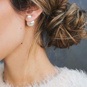 🆕 Double Pearl Stud Fashion Earrings